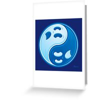 Ghost Yin Yang Symbol Greeting Card