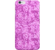 Mighty magenta marble psychedelic look iPhone Case/Skin