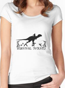 Ark Survival evolved -  Dino Rider Women's Fitted Scoop T-Shirt