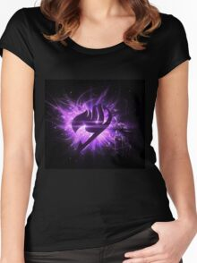 Fairy Tail natsu epic Fairy Tail Logo Epic Erza Women's Fitted Scoop T-Shirt