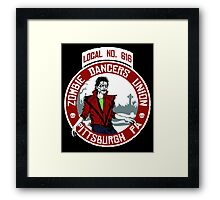 Zombie Dancers Union A Framed Print