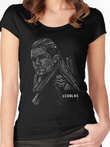 Legolas typography Women's Fitted Scoop T-Shirt