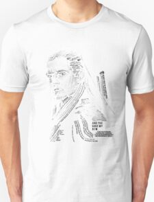 Legolas typography Unisex T-Shirt