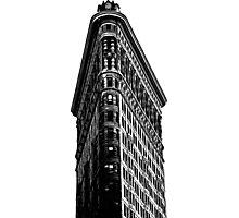 Flat Iron Building NYC Graphic Photographic Print