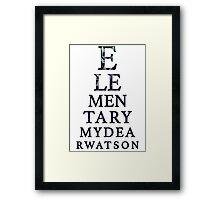 Elementary Dear Watson Framed Print