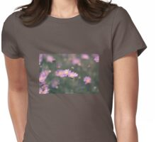 Purple field daisies Womens Fitted T-Shirt