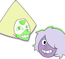 Amethyst and Peridot by blizzart