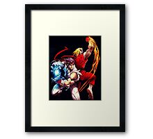 Ken and Ryu Framed Print