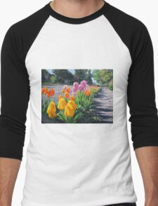 Street Tulips Men's Baseball ¾ T-Shirt