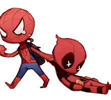 Spidey And Pool by Funny Design