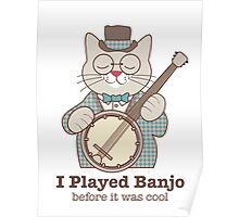 Cool Banjo Cat Poster