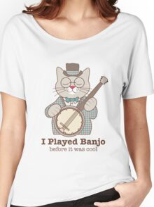 Cool Banjo Cat Women's Relaxed Fit T-Shirt