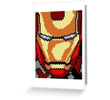 Pixel Comic Art Greeting Card