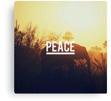 Peace elephant Canvas Print