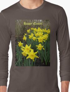 Easter Daffodils - Greeting Card Long Sleeve T-Shirt