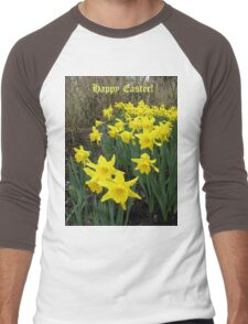 Easter Daffodils - Greeting Card Men's Baseball ¾ T-Shirt