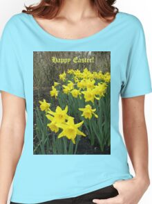 Easter Daffodils - Greeting Card Women's Relaxed Fit T-Shirt