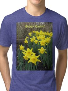 Easter Daffodils - Greeting Card Tri-blend T-Shirt