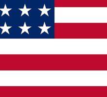 American flag Iowa outline Sticker