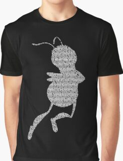 Bee Script Funny Graphic T-Shirt