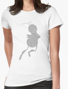 Bee Script Funny - White Womens Fitted T-Shirt