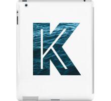 "The Letter ""K"" Ocean iPad Case/Skin"