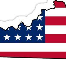 American flag Kentucky outline Sticker