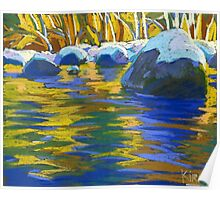 Golden Waters And Stones. Lynn Creek Poster