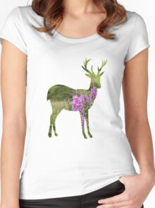 Fireweed on a Mountain Women's Fitted Scoop T-Shirt