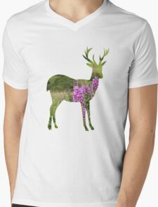 Fireweed on a Mountain Mens V-Neck T-Shirt