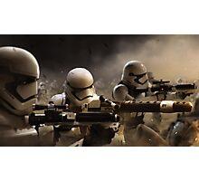 Star wars force awakens Storm trooper battle Photographic Print