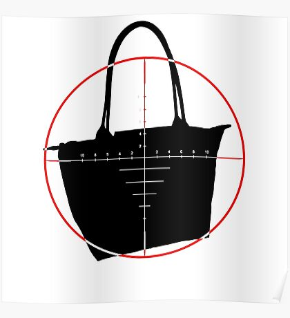 BagNapper Bag Thief Red, Black and White Logo Poster