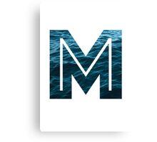 "The Letter ""M"" Ocean Canvas Print"