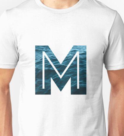 """The Letter """"M"""" Ocean Unisex T-Shirt"""