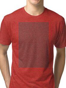 Bee Script White Tri-blend T-Shirt