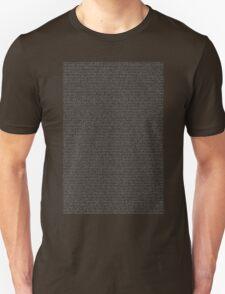 Bee Script White Unisex T-Shirt
