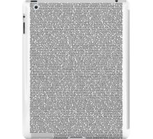 Bee Script White iPad Case/Skin
