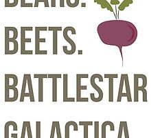 Bears. Beets. Battlestar Galactica - The Office by SarGraphics