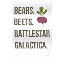 Bears. Beets. Battlestar Galactica - The Office Poster