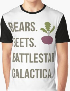 Bears. Beets. Battlestar Galactica - The Office Graphic T-Shirt