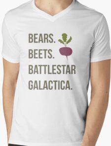 Bears. Beets. Battlestar Galactica - The Office Mens V-Neck T-Shirt