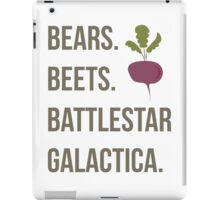 Bears. Beets. Battlestar Galactica - The Office iPad Case/Skin