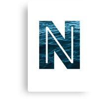 "The Letter ""N"" Ocean Canvas Print"