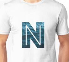 """The Letter """"N"""" Ocean Unisex T-Shirt"""