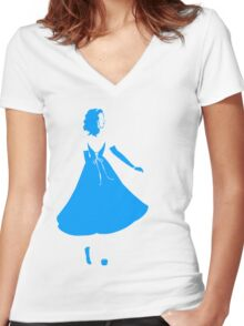 Simply Blue Women's Fitted V-Neck T-Shirt