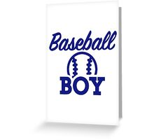 Baseball boy Greeting Card