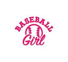 Baseball girl Photographic Print