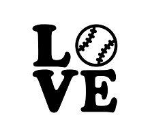 Baseball love Photographic Print
