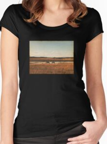 Vintage Horses Women's Fitted Scoop T-Shirt