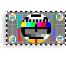 Calibration Test Card, TV monitor film, video geek Canvas Print